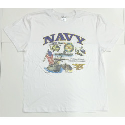 "Camiseta NAVY USA ""Full Speed Ahead, Patriotic, Dependable"""