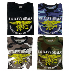 "Camiseta US NAVY SEALS ""The only easy day was yesterday"""