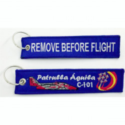 Llavero tela Patrulla Águila Remove Before Flight