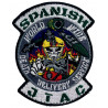 Parche JTAG Spanish World Wide Death Delivery Service escudo bordado