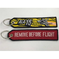 LLavero tela Ala 15 Zaragoza Remove Before Flight