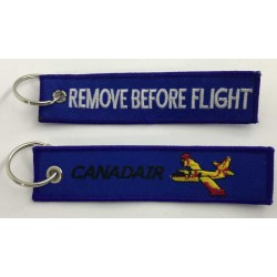 Llavero tela Canadair Remove Before Flight