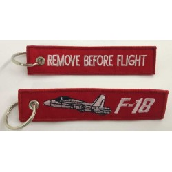 Llavero tela F18 Remove Before Flight