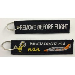 Llavero tela Escuadrón 793 Remove Before Flight