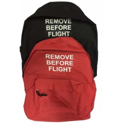 Mochila Remove Before Flight