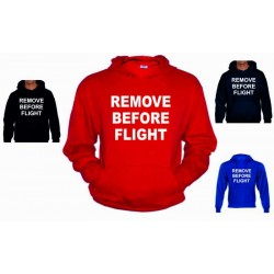 Sudadera Remove Before Flight